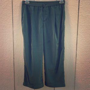 J. Crew cropped pants green size 2